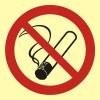 Tupakointi kielletty, muovi 50 x 50